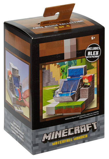 Minecraft Cave Biome Collection Waterfall Wonder Mini Figure Environment Playset #4 of 4 [Includes Alex with Pickaxe]