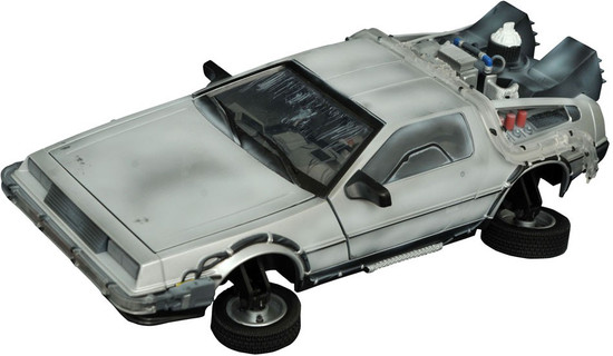 Back to the Future II Electronic Frozen Hover Time Machine Vehicle