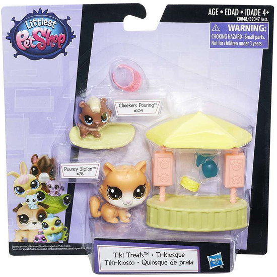 Littlest Pet Shop Tiki Treats Playset [Pouncy Sipton & Cheekers Pouring]