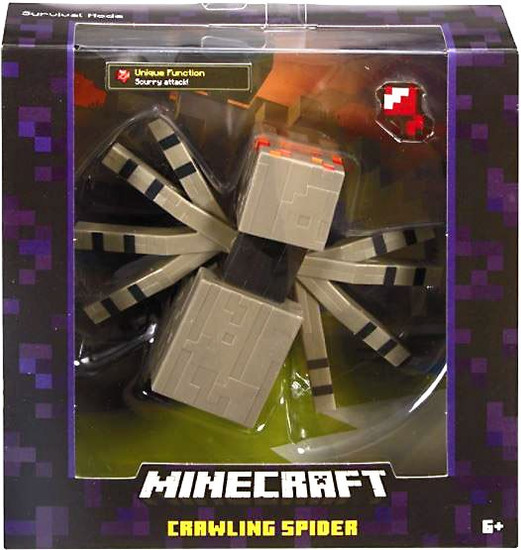 Minecraft Survival Mode Crawling Spider Action Figure