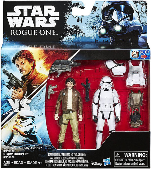 Star Wars Rogue One Captain Cassian Andor & Imperial Stormtrooper Exclusive Action Figure 2-Pack