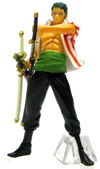 One Piece Chozokei Tamashii Rookies Roronoa Zoro 4-Inch PVC Figure