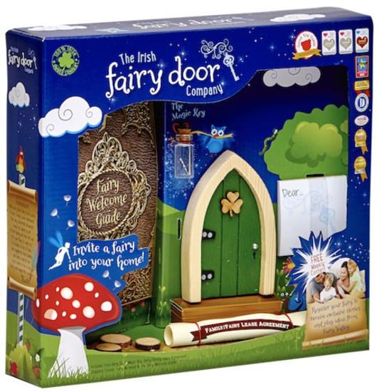 The Irish Fairy Door Company Green Arched Irish Fairy Door