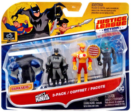 Justice League Action Mighty Minis Build Darkseid Batman, Firestorm & Mr. Freeze Mini Figure 3-Pack