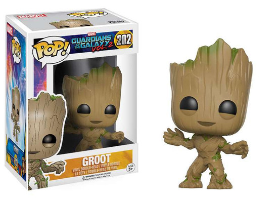 Funko Guardians of the Galaxy Vol. 2 POP! Marvel Groot Vinyl Bobble Head #202