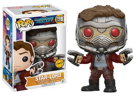 Funko Guardians of the Galaxy Vol. 2 POP! Marvel Star-Lord Vinyl Bobble Head #198 [Mask On, Chase Version]