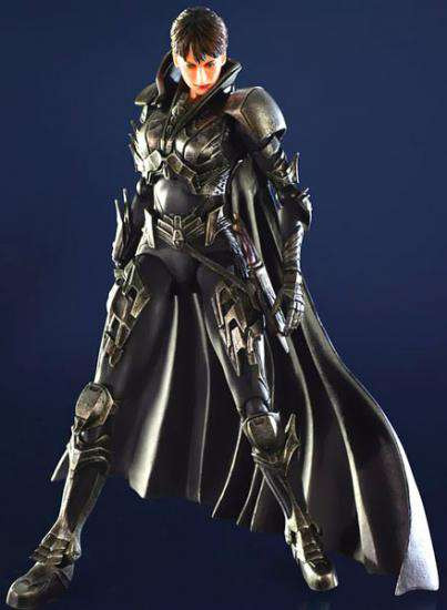 Superman Man of Steel Play Arts Kai Faora Action Figure [Damaged Package]