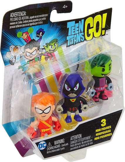 Teen Titans Go! Raven, Speedy & Beast Boy Mini Figure 3-Pack