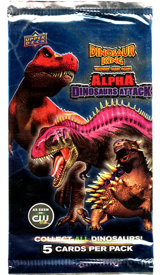 Dinosaur King Trading Card Game Alpha Dinosaurs Attack Booster Pack [5 Cards]