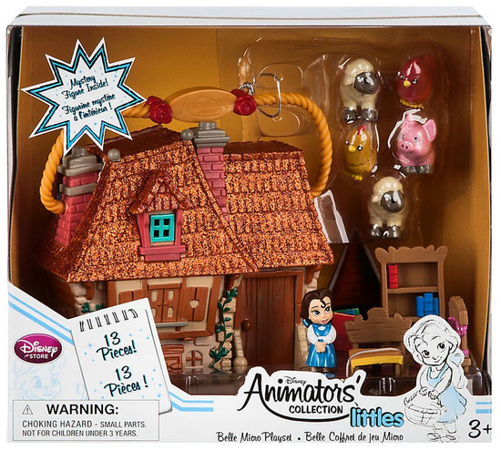 Disney Beauty and the Beast Littles Animators' Collection Belle Exclusive 2-Inch Micro Playset [2017]