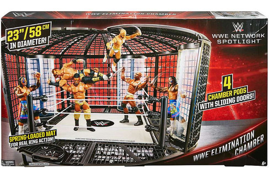WWE Wrestling Network Spotlight Elimination Chamber Exclusive Ring Playset [Damaged Package]