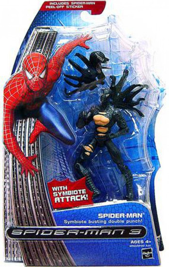 Spider-Man 3 Spider-Man Action Figure [Symbiote Busting Double Punch]
