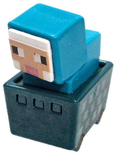 Minecraft Minecart Blue Sheep in Cart 1-Inch Mini Figure [Loose]