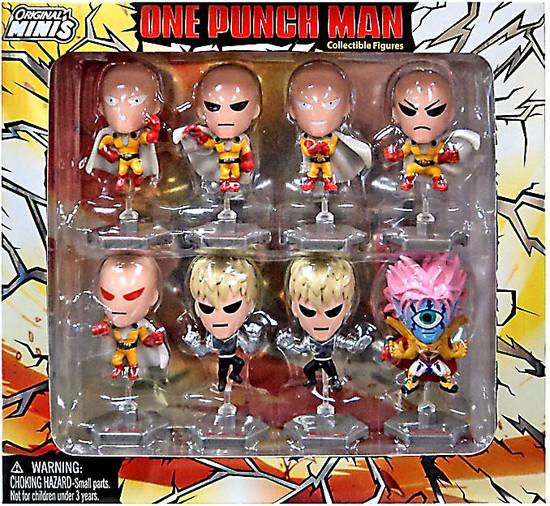 Original Minis One Punch Man Mini Figure 8-Pack