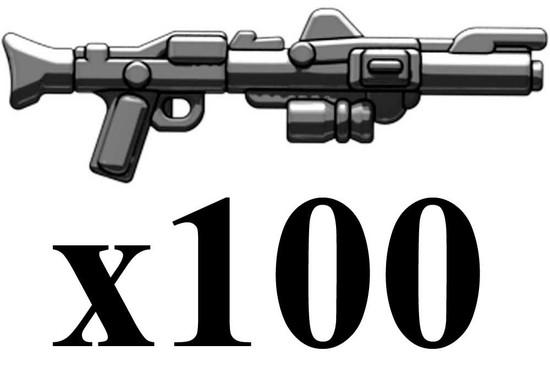 BrickArms Lot of 100 DC-15 Blast Rifles 2.5-Inch [Black]
