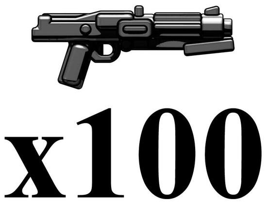 BrickArms Lot of 100 DC-15S Blaster Carbine 2.5-Inch [Black]