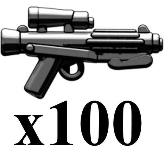 BrickArms Lot of 100 E-11 Blaster Rifle 2.5-Inch [Black]