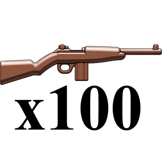 BrickArms Lot of 100 M1 Carbine Full Stock 2.5-Inch [Full Stock, Black]