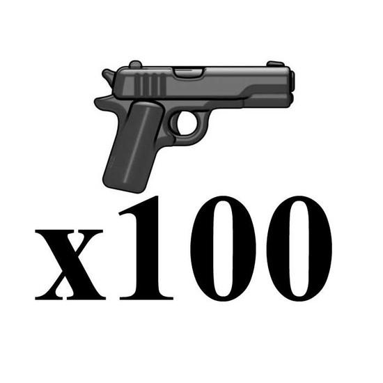 BrickArms Lot of 100 M1911 v2 2.5-Inch [Black]