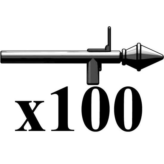 BrickArms Lot of 100 RPG Rocket Grenades 2.5-Inch [Black]