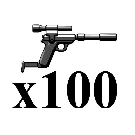 BrickArms Lot of 100 Spy Carbine 2.5-Inch [Black]