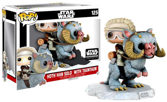 Funko POP! Star Wars Hoth Han Solo with Tauntaun Exclusive Vinyl Bobble Head #125