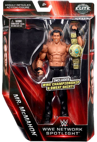 WWE Wrestling Elite Network Spotlight Mr. McMahon Exclusive Action Figure [WWE Championship & Sweat Shirt]