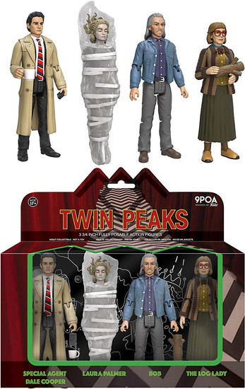 Funko Twin Peaks Dale Cooper, Laura Palmer, Bob & Log Lady Action Figure 4-Pack