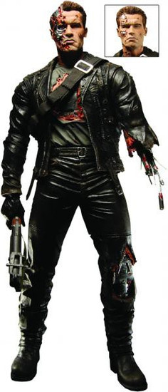 NECA Terminator 2 Judgment Day T-800 Deluxe Action Figure [Battle Damaged, Final Battle]