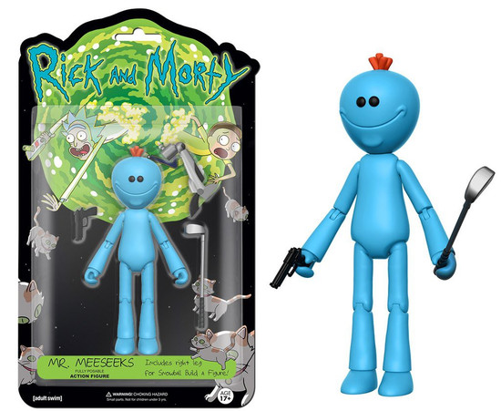 Funko Rick & Morty Mr. Meeseeks Action Figure [Build Snowball Part]