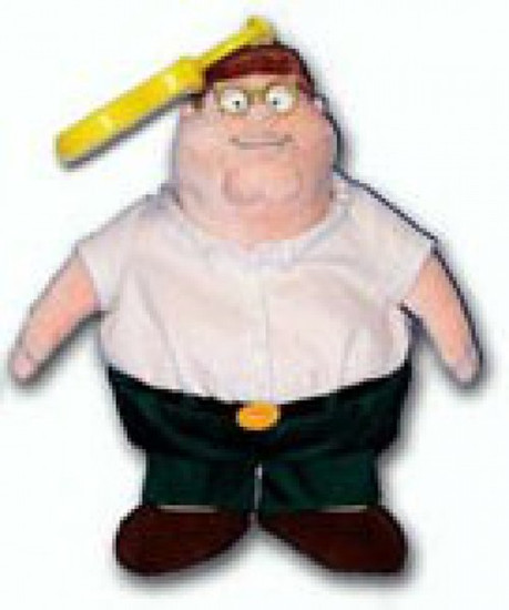 Family Guy Talking Peter 5-Inch Plush Clip On