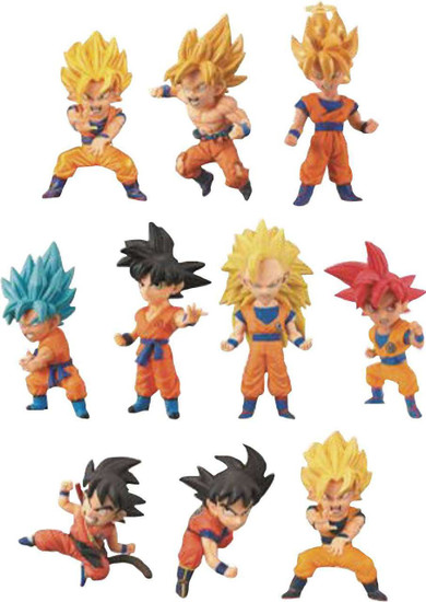 Dragon Ball Super WCF Goku's Many Forms 2.5-Inch Mystery Box [15 Packs]