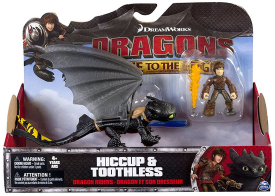 How to Train Your Dragon Race to the Edge Dragon Riders Toothless & Hiccup Action Figure 2-Pack [Yellow Tail]