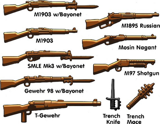 BrickArms WW1 Trench Pack 2.5-Inch Weapons Pack