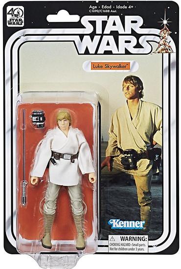 Star Wars Black Series 40th Anniversary Wave 1 Luke Skywalker Action Figure