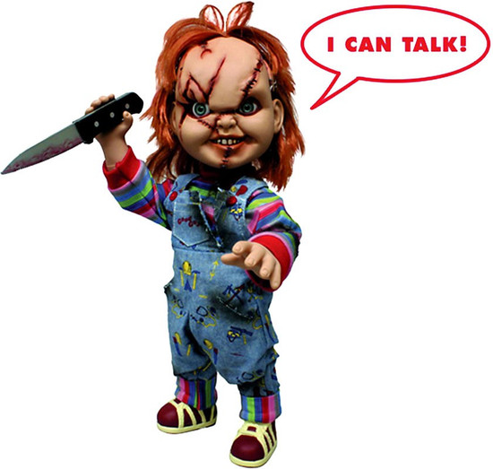 Child's Play Chucky Mega Scale TALKING Action Figure [Scarred]