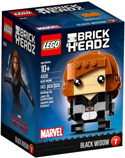 LEGO Marvel Captain America Civil War Brick Headz Black Widow Set #41591