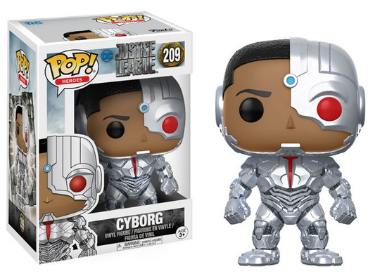 Funko DC Justice League Movie POP! Movies Cyborg Vinyl Figure #209