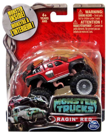 Monster Trucks Ragin' Red Diecast Car