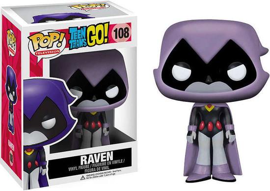 Funko Teen Titans Go! POP! TV Raven Exclusive Vinyl Figure #108 [Grey, Damaged Package]