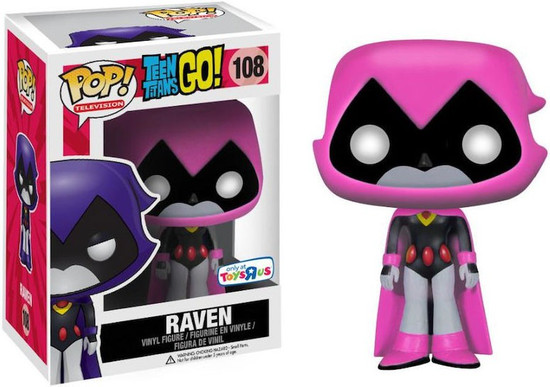 Funko Teen Titans Go! POP! TV Raven Exclusive Vinyl Figure #108 [Pink, Damaged Package]