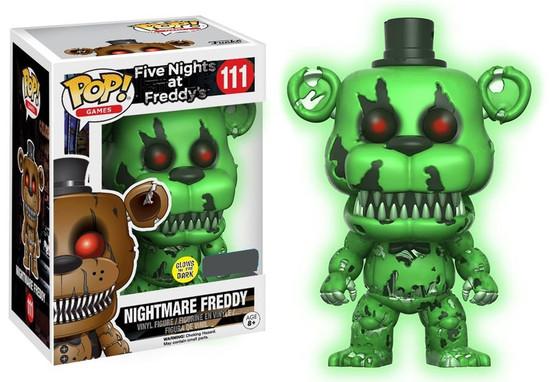 Funko Five Nights at Freddy's POP! Games Nightmare Freddy Exclusive Vinyl Figure #111 [Glow-in-the-Dark]