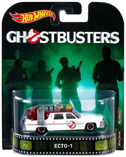 Hot Wheels Ghostbusters HW Retro Entertainment ECTO-1 Die-Cast Car