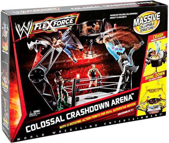WWE Wrestling FlexForce Colossal Crashdown Arena Action Figure Playset [Damaged Package]