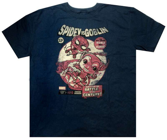 Funko Marvel Collector Corps Spidey vs Goblin T-Shirt [2X-Large]