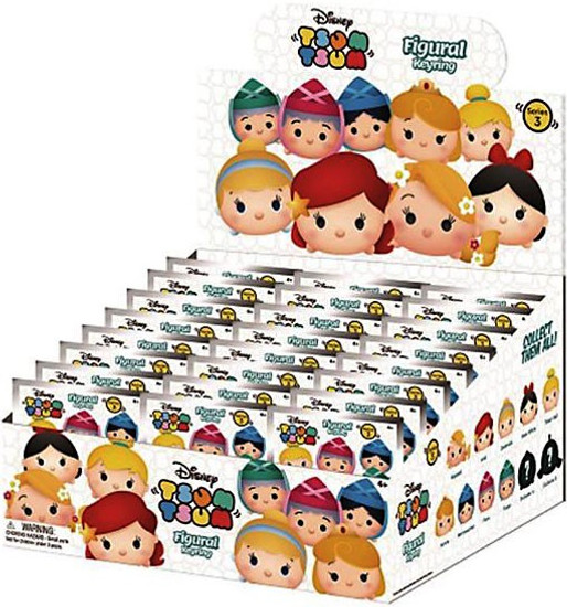 Disney 3D Figural Keyring Tsum Tsum Series 3 Mystery Box [24 Packs]