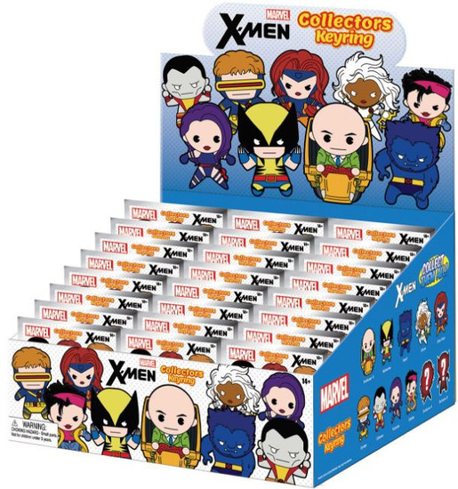 Marvel 3D Figural Keyring X-Men Mystery Box [24 packs]
