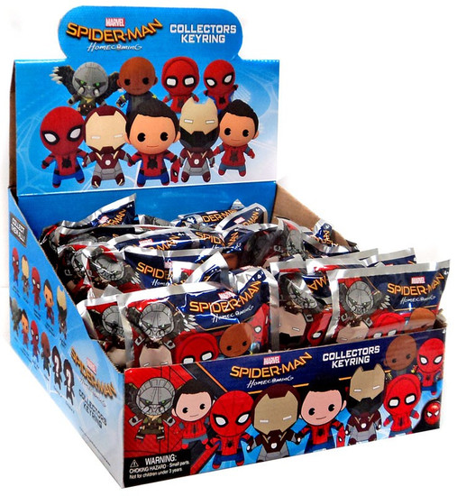 Marvel 3D Figural Keyring Spider-Man Movie Mystery Box [24 packs]