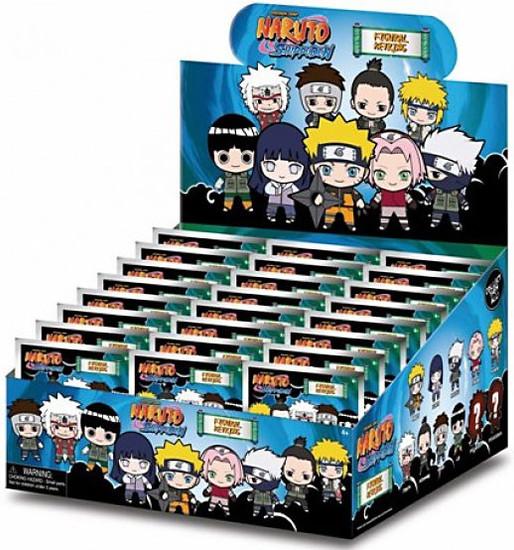 3D Figural Keyring Naruto Shippuden Series 1 Mystery Box [24 Packs]