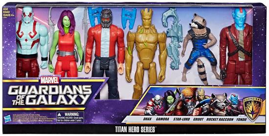 Marvel Guardians of the Galaxy Vol. 2 Titan Hero Series Drax, Gamora, Star-Lord, Groot, Rocket & Yondu Exclusive Action Figure 6-Pack